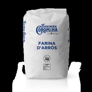 Farinera Coromina, farines d'altres cereals, farina d'arròs