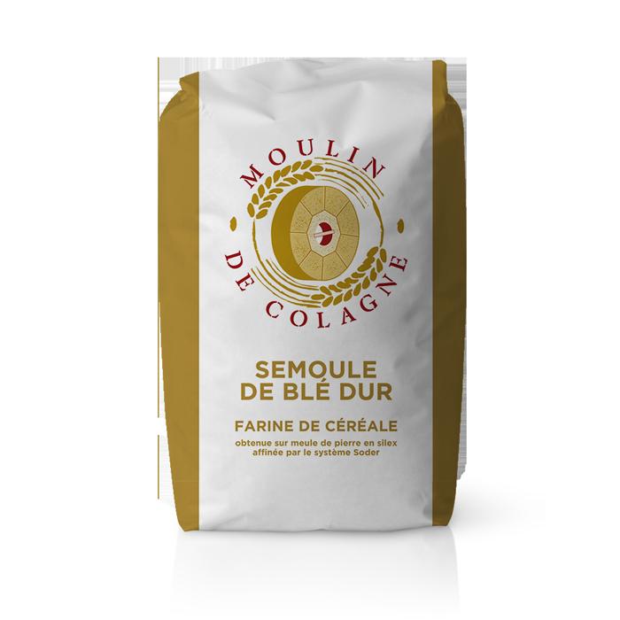 Farinera Coromina, farines altres cereals a la pedra, farina Seimoule de Blé Dur