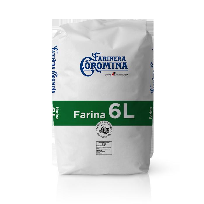 Farinera Coromina, farines de la gamma farines fluixes, farina 6L