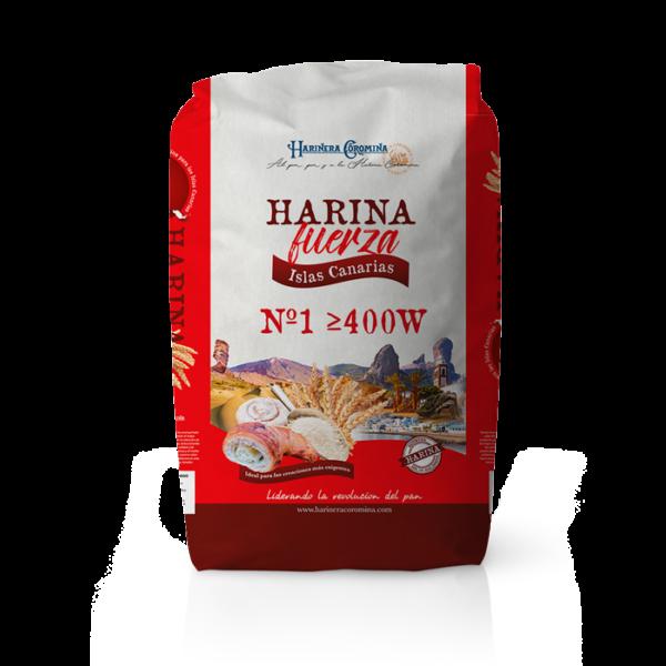 Farinera Coromina, farines de la gamma locals, farina de força Islas Canarias No. 1 400W