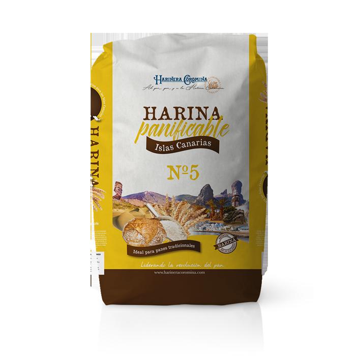 Harinera Coromina, harinas de la gama locales, harina panificable Islas Canarias No. 5
