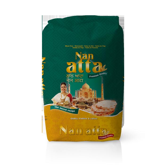 Farinera Coromina, farines de la gamma locals, farina Nan Atta