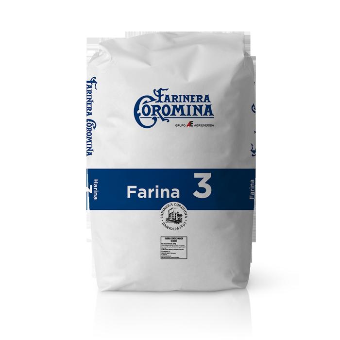 Farinera Coromina, farines de la gamma farina de mitja força, farina 3