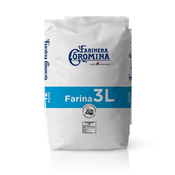 Farinera Coromina, farines de la gamma farina de mitja força, farina 3L