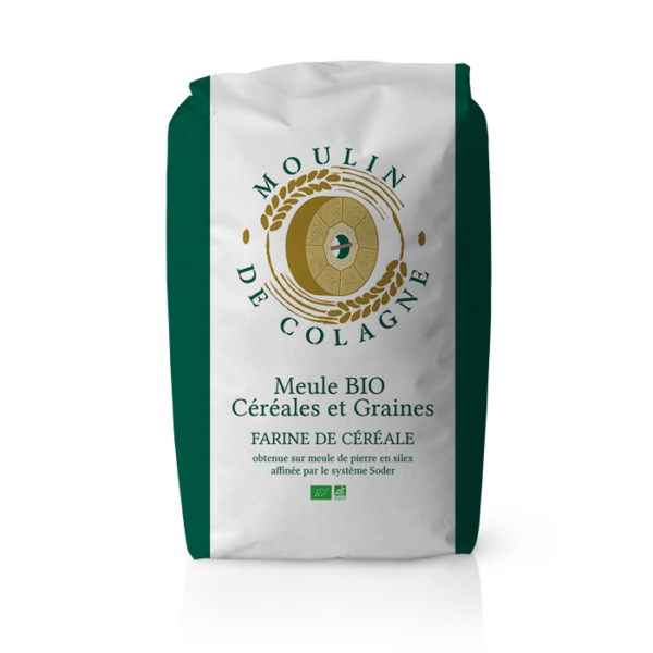 Farinera Coromina, farines ecològiques a la pedra, farina Meule BIO Céréales et Graines
