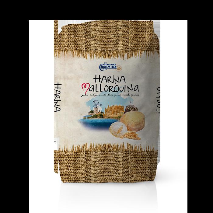 Harinera Coromina, harinas de la gama locales, harina Mallorquina para realizar auténticos panes mallorquines