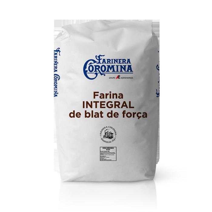 Farinera Coromina, farines de la gamma farines integrals, farina integral de blat de força