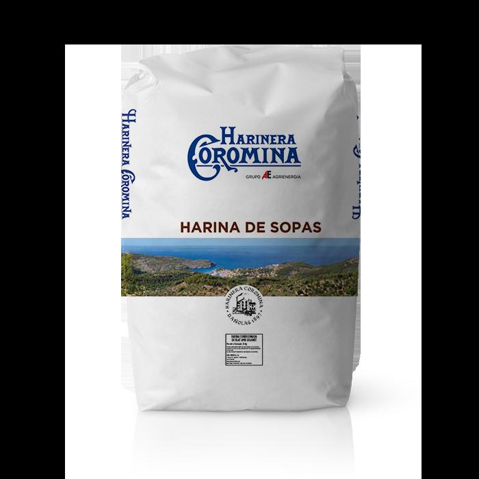 Harinera Coromina, harinas de la gama harina integral, harina de sopas