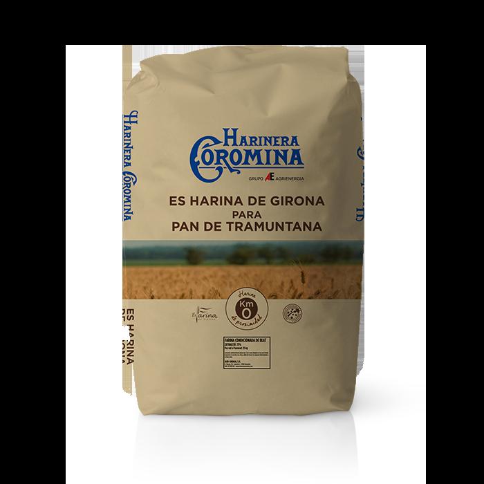 Harinera Coromina, harinas de la gama locales, harina de Girona para pan de tramuntana